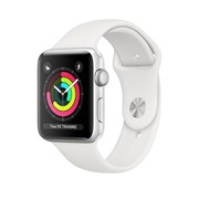 APPLE WATCH SERIES 3 GPS 42MM SILVER ALUMINIUM CASE WHITE SPORT BAND