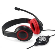 CONCEPTRONIC HEADSET STEREO USB C/ MIC RED