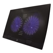 "EWENT NOTEBOOK COOLING 17"" 2 SILENT LED FAN 4 USB"