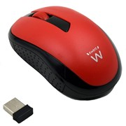 EWENT MOUSE WIRELESS 1000 DPI RED