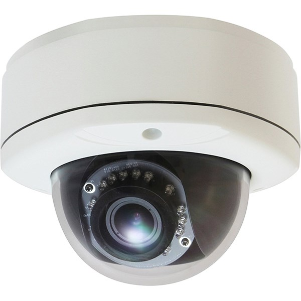 LEVELONE FIXED DOME IP CAMERA, 3MP, H.265/264, POE, IR, IK10, 2AUDIO, IND/OUT