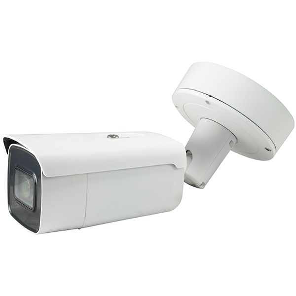 LEVELONE FIXED IP CAMERA, H.265/264, 5MP, 4.3X ZOOM, IR, 2AUDIO, IND/OUT, IK10