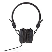 NEDIS HEADPHONES ON-EAR FOLDABLE CABO 1.20M BLACK