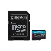 KINGSTON SD 128GB MICRO SDXC CANVAS GO PLUS 170R A2 U3 V30 CARD + ADP