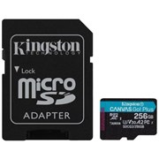 KINGSTON SD 256GB MICROSDXC CANVAS GO PLUS 170R A2 U3 V30 CARD + ADP