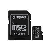KINGSTON SD 16GB MICRO SDHC 100R A1 C10 CARD C/ADAPT