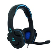 EWENT HEADPHONES GAMING PC 2X 3.5MM BLACK- BLUE