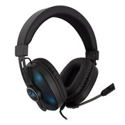 EWENT HEADPHONES GAMING PC/ XBOX ONE/ PS4 LED RGB BLACK- BLUE