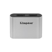 KINGSTON USB 3.2 GEN1 WORKFLOW DUAL SLOT MICRO SDHC/SDXC UHS-II CARD READER